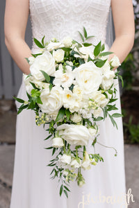 White cascade bouquet - The Blooming Idea Florst - The Woodlands, Texas
