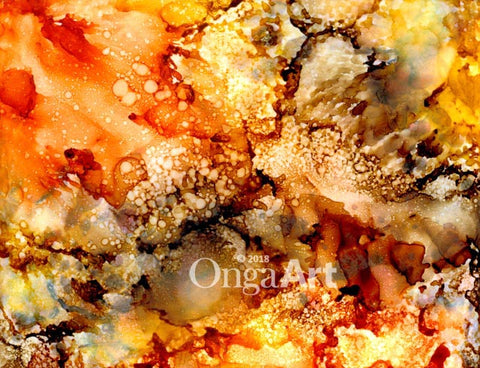 """01-30-18"" -- Alcohol inks photo print"
