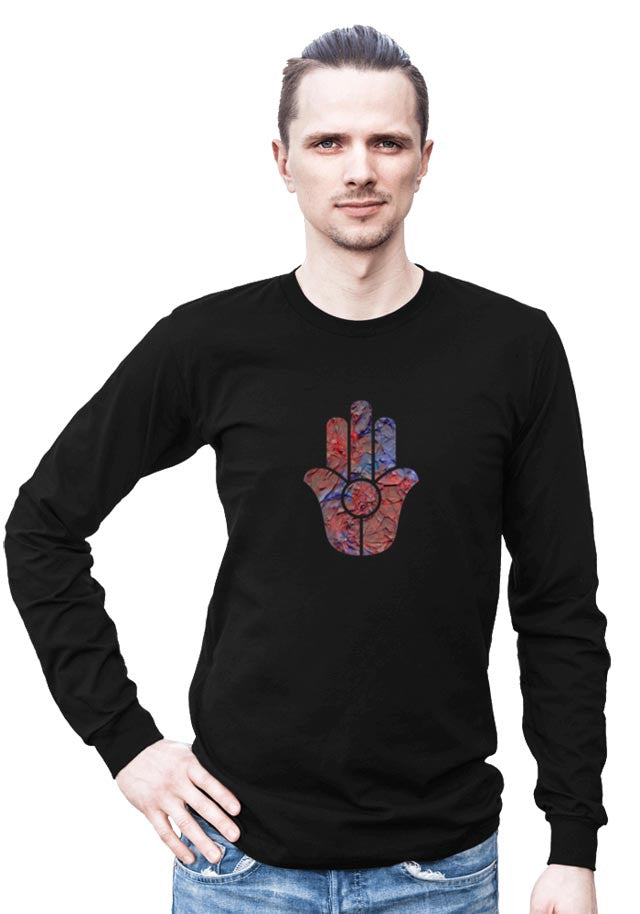 Hamsa Hand -- Any Gencer Long Sleeved Shirt with Symbol
