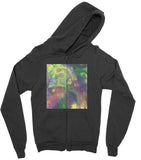California Fleece Zip Hoodie Dark Swirls