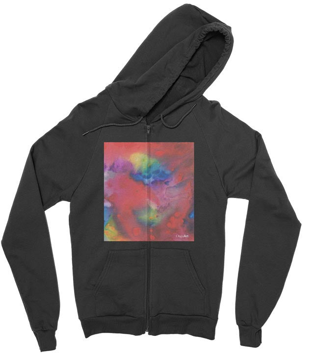 California Fleece Zip Hoodie Nebula01