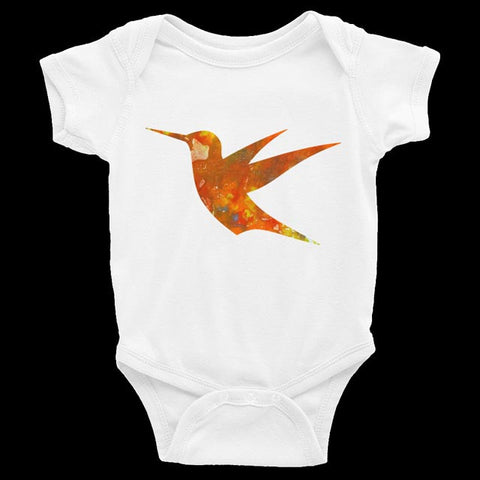 Baby Onesie - Hummingbird Short-Sleeved
