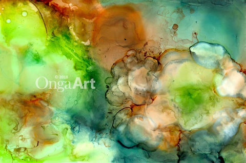 """Promise of Spring"" -- Alcohol inks photo print"