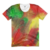 Red Yellow Green Women's All-Over T-Shirt