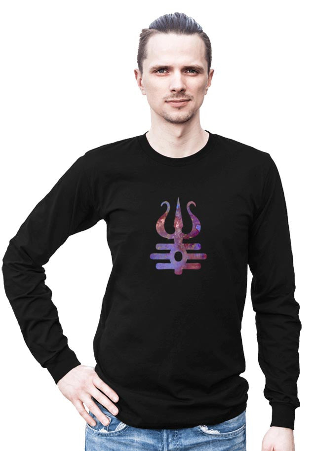 Shiva Trident -- Any Gender Long Sleeved Shirt with Symbol