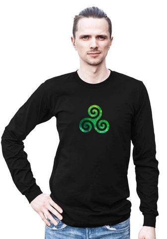 Triple Spiral -- Any Gender Long Sleeved Shirt with Symbol