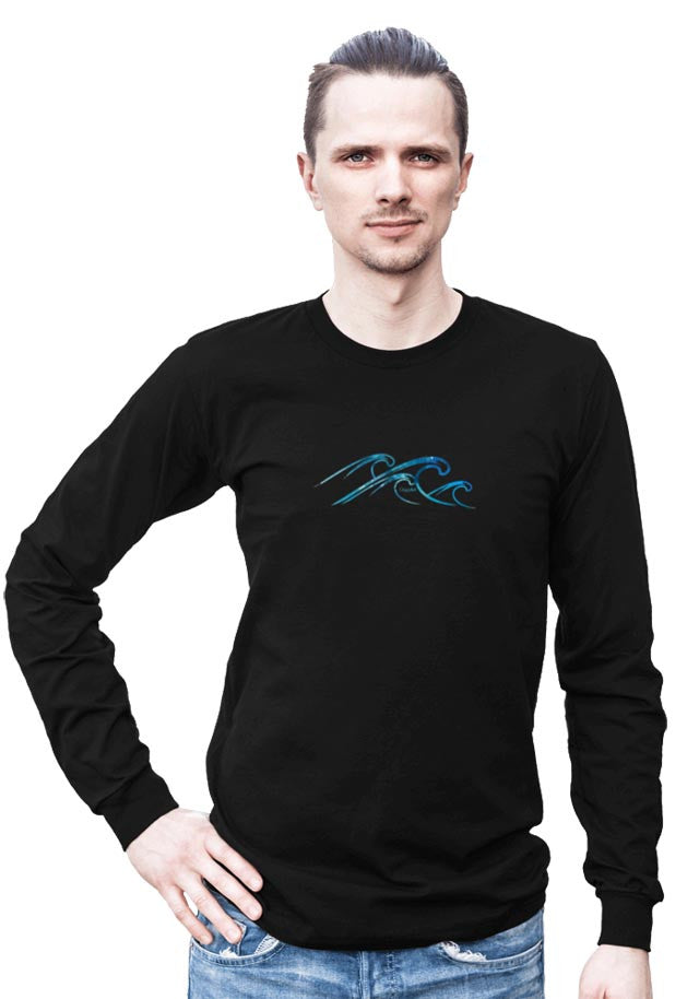 Waves -- Any Gender Long Sleeved Shirt with Symbol