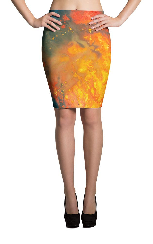 All-Over Design Skirt -- Woken by Fire