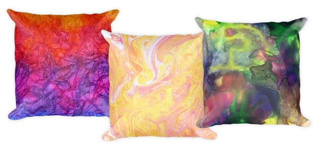 Pillows printed with OngaArt