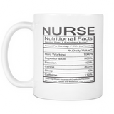 Funny Nurse Nutritional Facts Mug