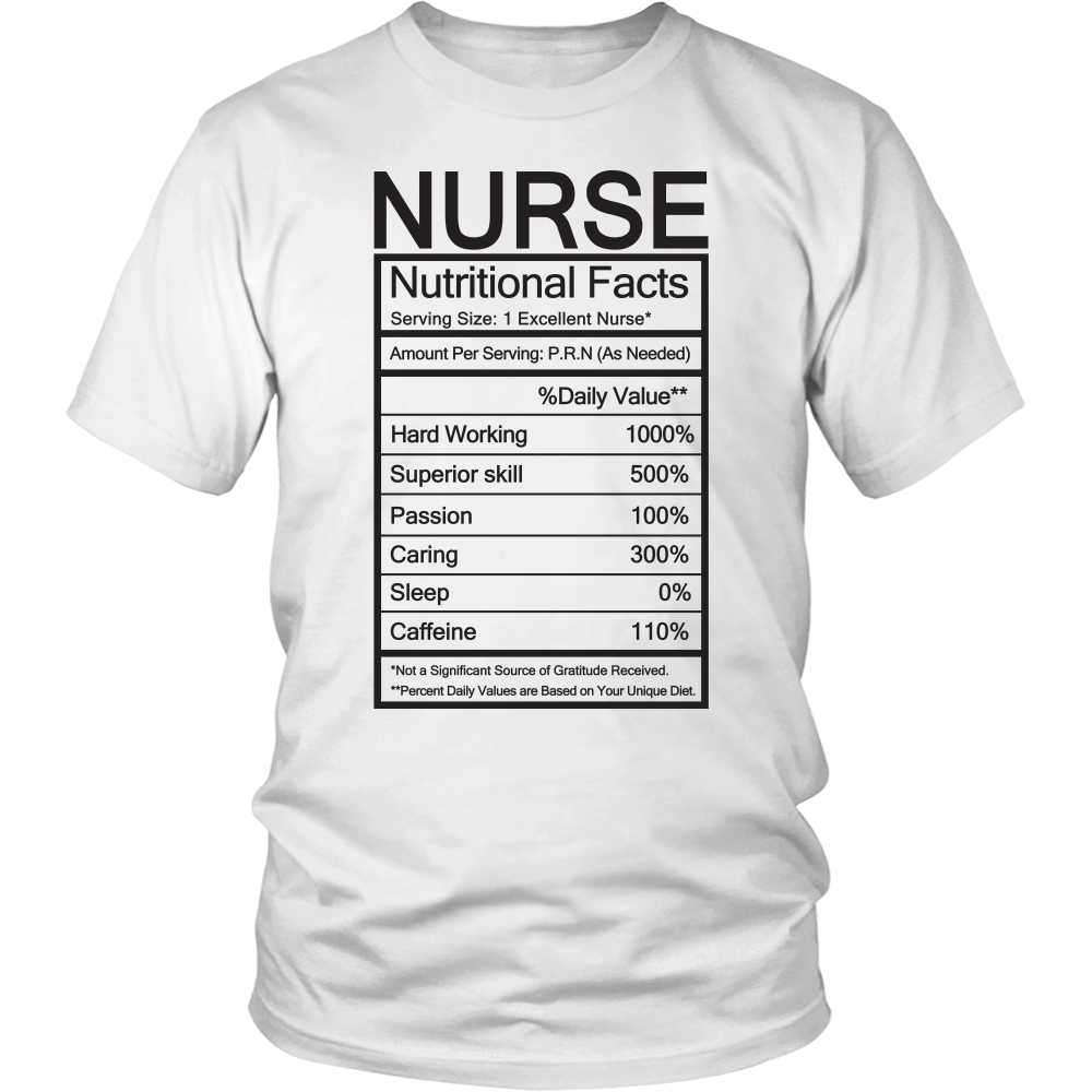 27a18edc Funny Nurse Nutritional Facts Mug (Tees, Hoodies & V-Necks) – Nurses ...
