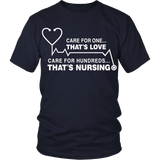 Care For One...That's Love. Care For Hundreds...That's Nursing.