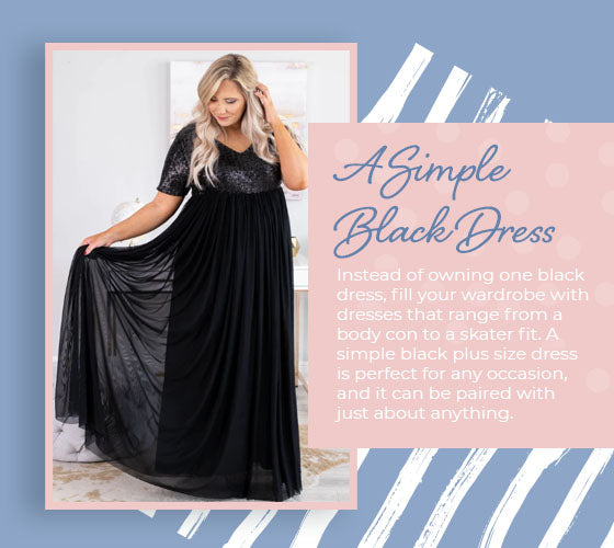 a simple black dress graphic