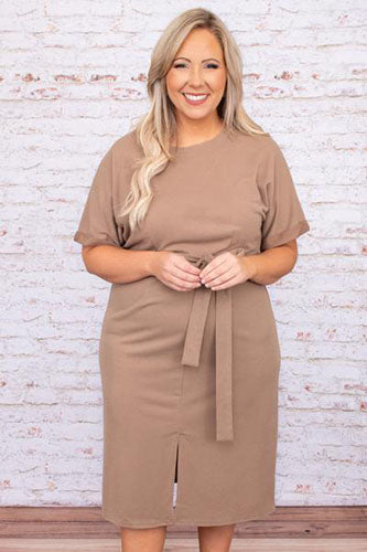 Better Off This Time Dress, Mocha