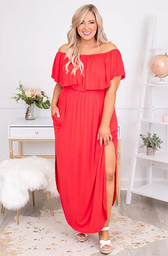 by the boardwalk maxi dress coral