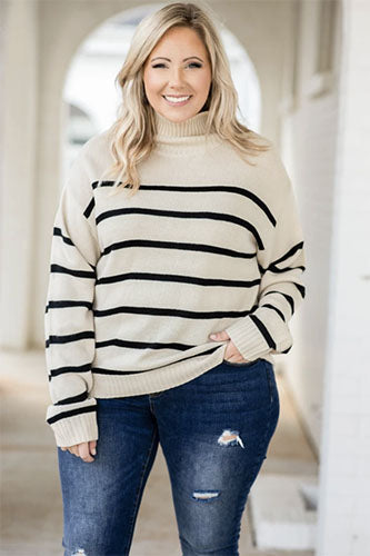 jeggings with striped sweater