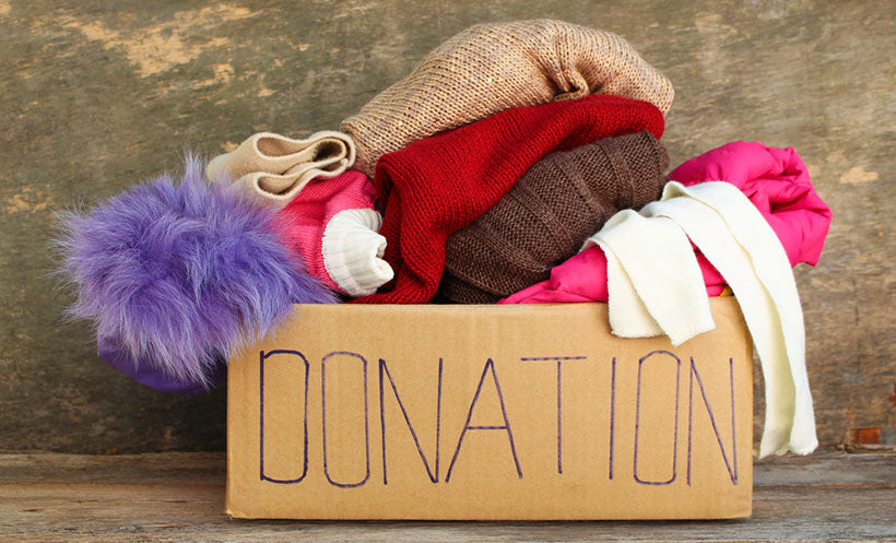 donation box filled with clothing