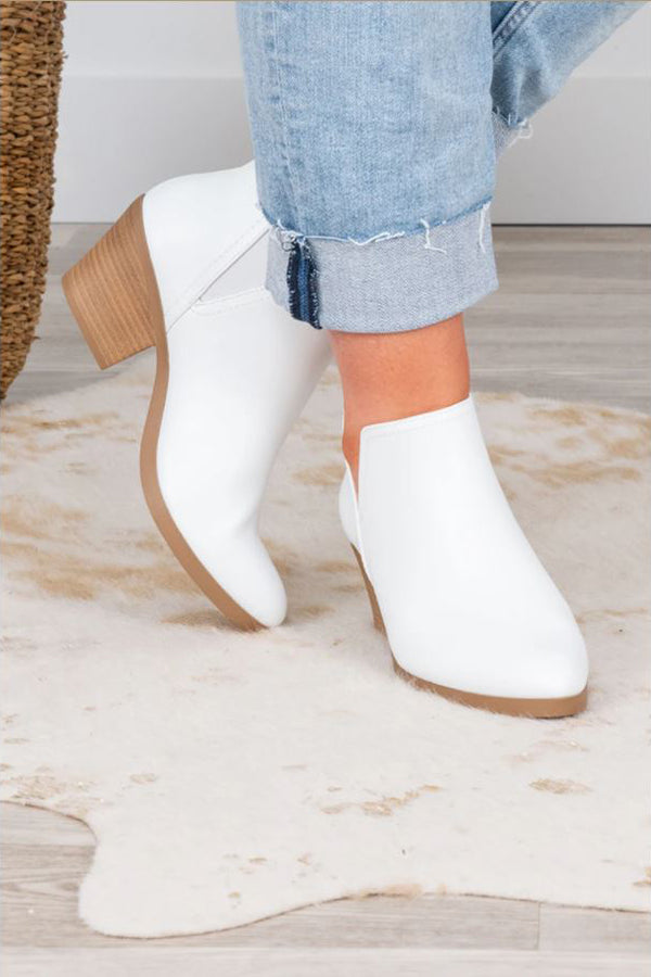 a pair of got the love booties in white