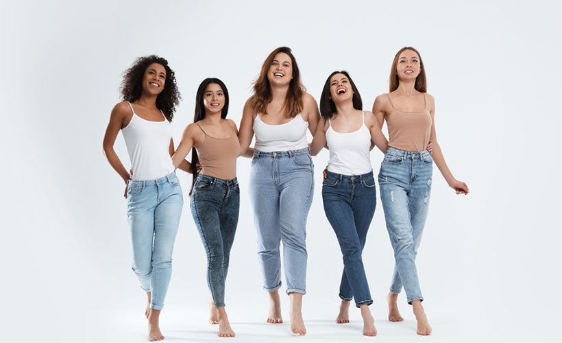 group of women with different body types