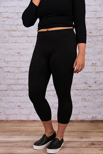 luxe leggings cropped black