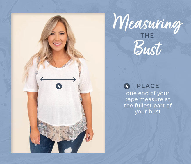 measuring the bust graphic