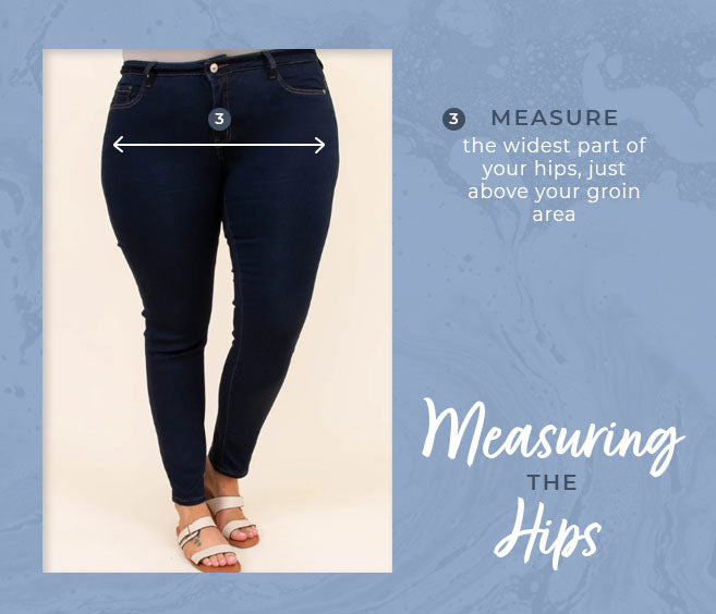 measuring the hips graphic