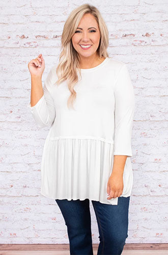 no more drama ivory tunic