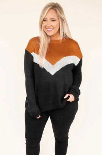 out in style sweater caramel