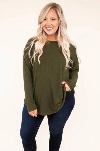 overwhelming comfort top olive