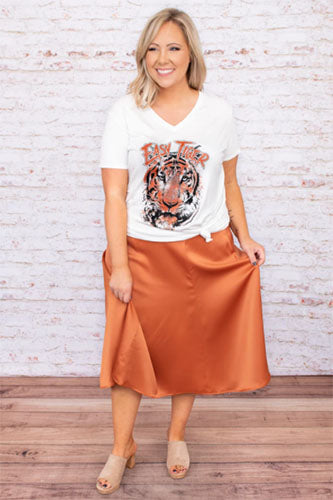 perfectly poised skirt orange
