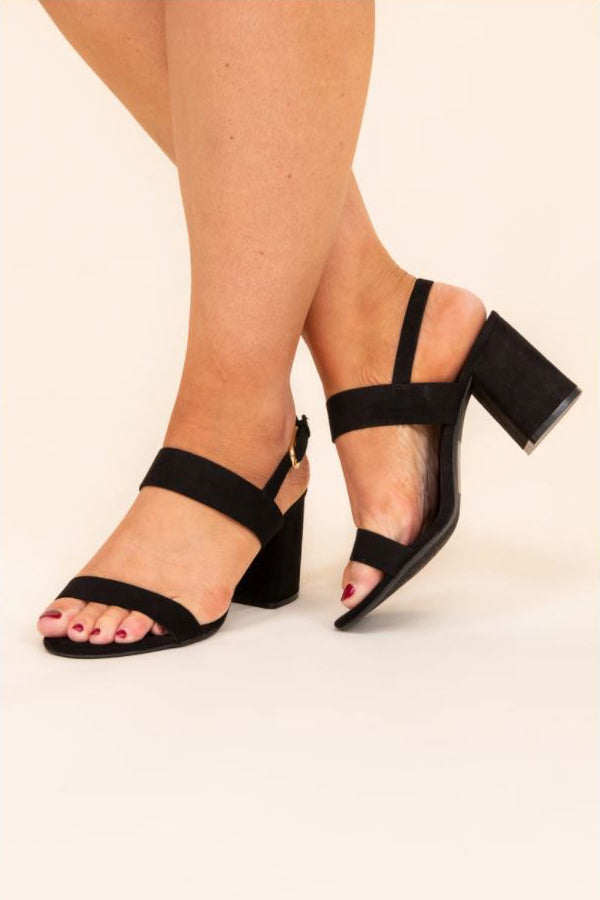 a pair of two and two together heels in black