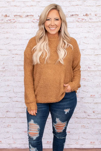 rise up sweater camel