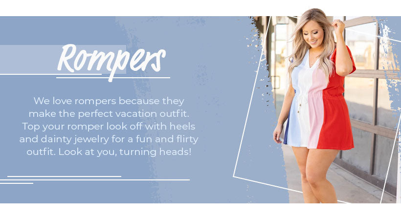 rompers vacation outfit