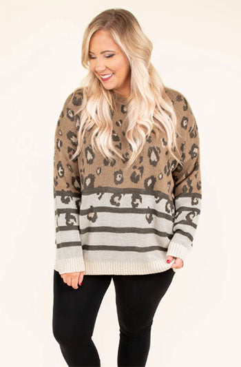 simply spotted sweater mocha