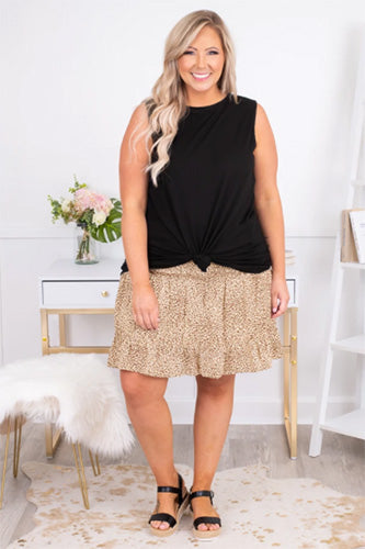spotted in love skirt