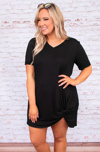 sweetly simple dress in black