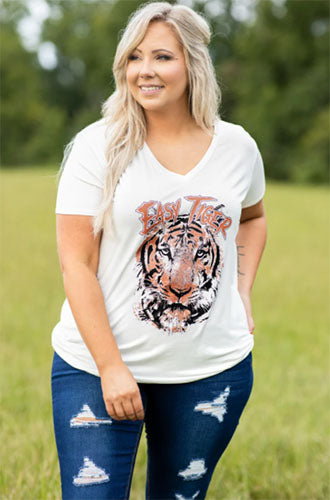 graphic tiger tee