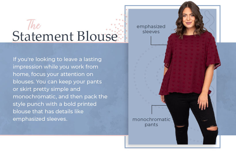 the statement blouse graphic