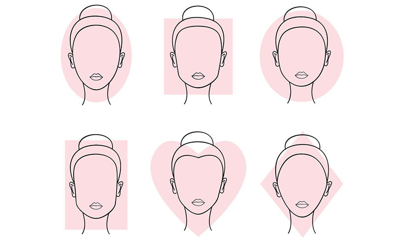 woman faces by type