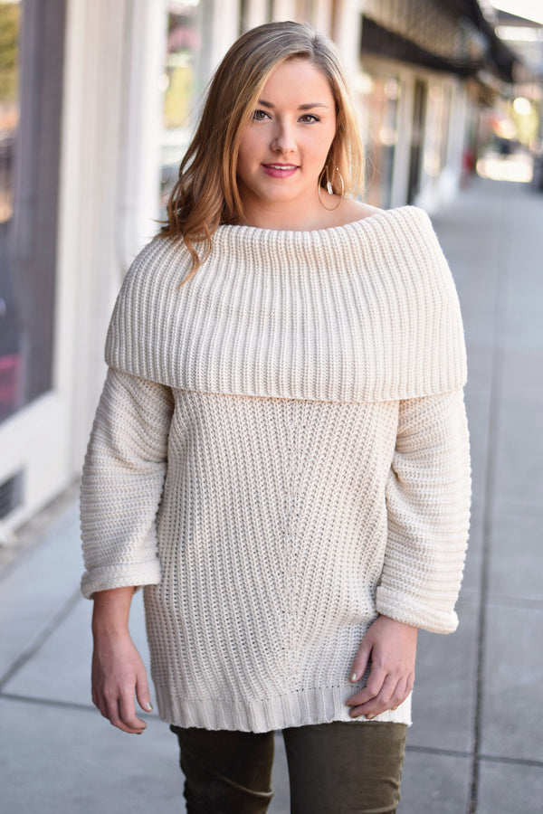 Just Breathe Sweater, Ivory
