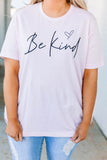tshirt, short sleeve, pink, graphic, be kind, heart, black, comfy