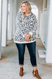sweater, long sleeve, bubble sleeve, fuzzy, comfy, white, taupe, black, leopard, fall, winter