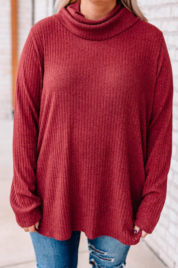 sweater, long sleeve, turtleneck, long, flowy, ribbed, comfy, fall, winter, red