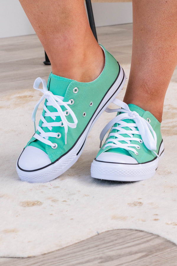 shoes, sneakers, green, solid, mint