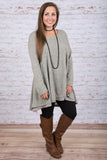 Lovestoned Tunic, Heather Gray