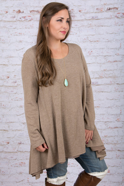 Lovestoned Tunic, Mocha
