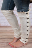 Cute as a Button Leg Warmers, Off White