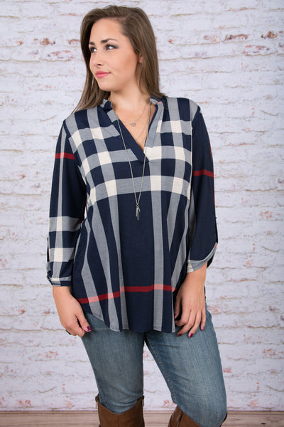 Simply Chic Top, Navy