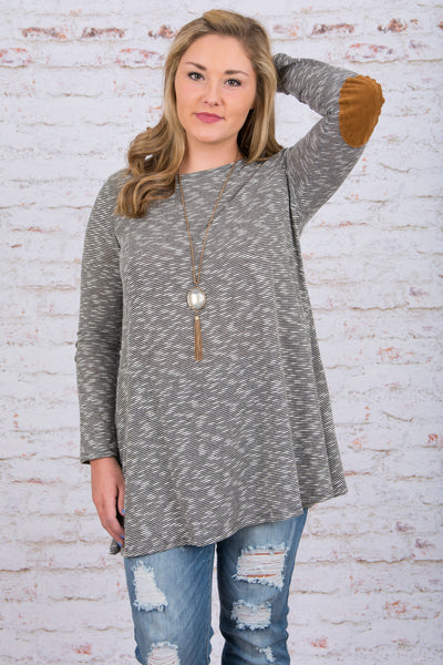 On My Way Up Tunic, Gray