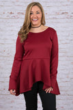 One of a Kind Blouse, Burgundy